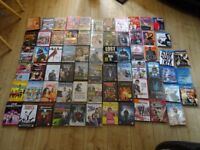 job lot - 60 DVDs and 8 Blue rays