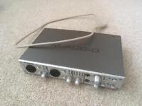 M-Audio FireWire 410 Audio Interface/Soundcard/MIDI for Studio/DJ/Live/Recording