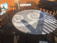 Outdoor dinning table and chairs