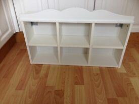 White cabinet shelf