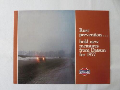 1977 Datsun Rust Prevention Brochure 280Z 200SX 710 B210 F-10 280 Z Nissan