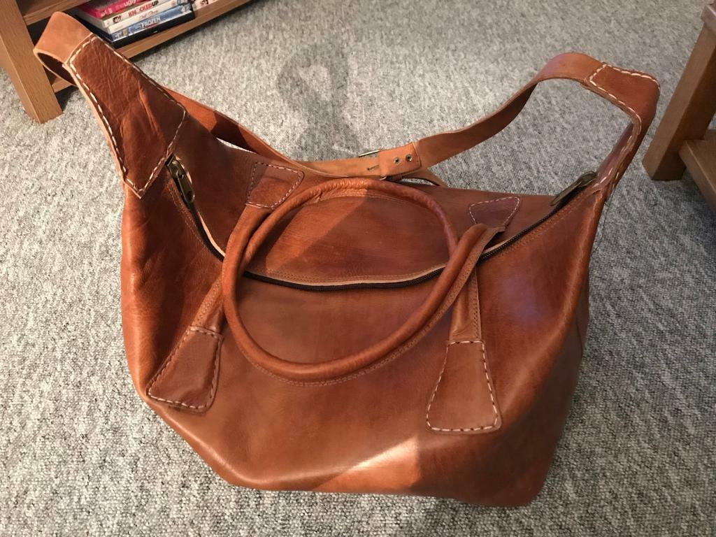 """Leather Bag """"Moroccan Bought and Made"""""""