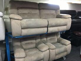 New / Ex Display LazyBoy Mink Recliner 3 + 1 +1 Seater