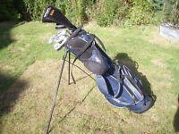 'PGA kids' golf clubs and bag