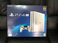 Sony PlayStation 4 Pro Glacier White 1TB Console Brand New + Receipt (SEALED)