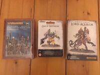 Lord Aquilor Stormcast, Orruk Megaboss, Skeleton Warriors - ALL NEW AND SEALED