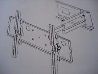 TV wall bracket, heavy duty cantilever design, Brand new in box