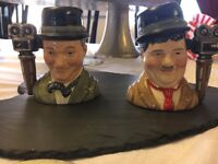 Royal doulton laurel and hardy Toby jugs. No' 558 in collection. Excellent condition.