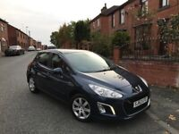Peugeot, 308, Hatchback, 2013, Manual, 1560 (cc), 5 doors 63 REG £20 Tax Sat Nav FSH