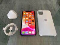 Purple Apple Iphone 11 64GB On Vodafone / Lebra + Case + Warranty