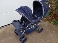 Double pushchair (tandem style)
