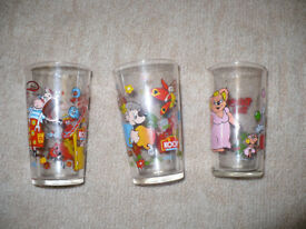 3x Koch's Kids Glass. Blinky Bill 1995. Collectible. Excellent condition.