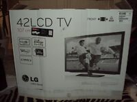 Lg tv and tv stand including