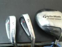 golf clubs ,taylormade and wilson