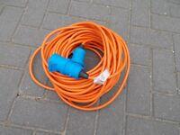 25 meter caravan / Motorhome mains hook up cable / site lead
