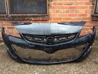 Vauxhall Astra facelift 2012 2013 2014 genuine black front bumper for sale