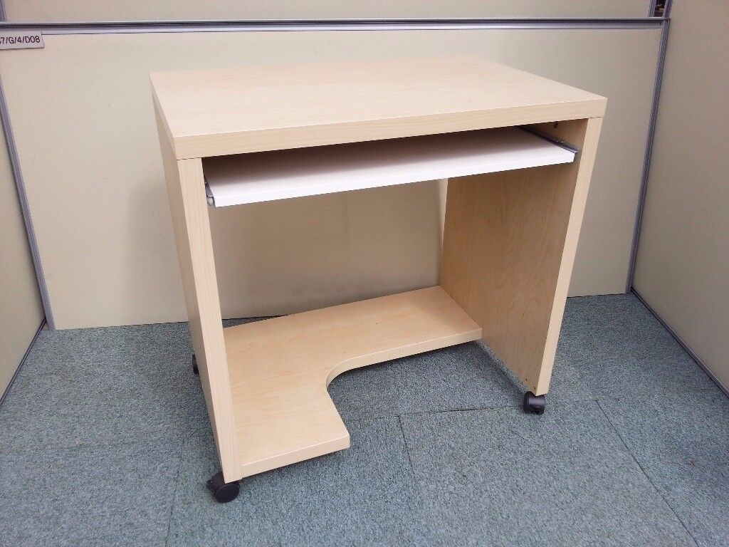 Ikea Computer Desk Trolley In Maple Ideal For Student Rooms Bedrooms Etc