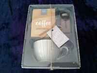 Coffee mug and sprinkler set