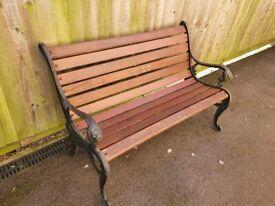 Cast iron garden bench with Lion head