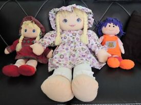 Three Beautiful Rag Dolls