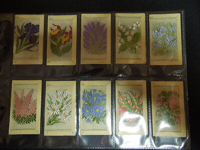 1934 Wix KENSITAS FLOWERS silk 3- printed backs set 60 cards Tobacco small size