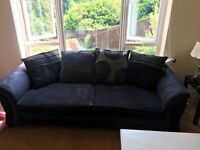 DFS CHARCOAL/BLACK SOFA'S - 2 SEATER & 4 SEATER. 5 YEARS OLD STILL IN GREAT CONDITION.