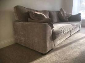 4 Seater Sofa and snuggle chair