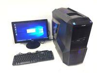 Gaming Computer PC, Setup with Monitor (Intel i5 4670, 8GB RAM, 500GB, GTX 760)