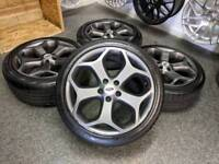 """18"""" Genuine Ford Focus ST Alloy Wheels & Tyres 5x108"""