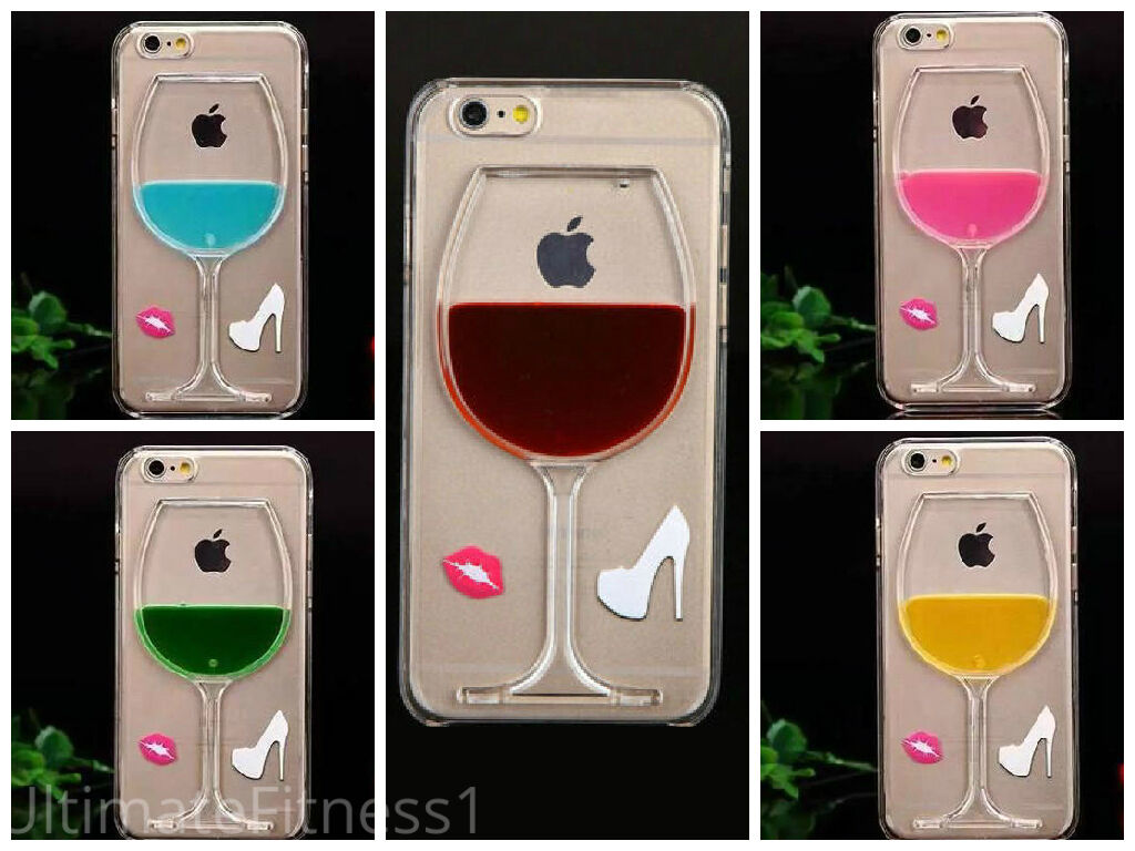 Iphone 6 Phone Cases: Liquid 3D Wine Glass Cocktail Bottle Phone Case Cover