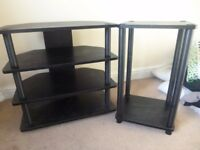 TV Stand and telephone/side/plant table set