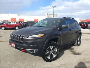 2016 Jeep Cherokee TRAILHAWK**LEATHER**SUNROOF**NAVIGATION**8.4
