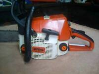"""Stihl 021 chainsaw in vgc, 14"""" bar and chain, good little saw."""