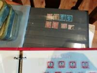 Stamp collection including penny black