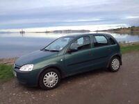 Vauxhall Corsa, Diesel, 2003, 7 months MOT, 105,000 miles, green