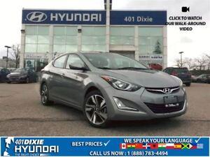2016 Hyundai Elantra GLS|1 OWNER|BACK-UP CAM|ALLOYS|SUNROOF|
