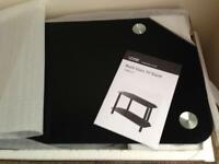 Brand new boxed black glass TV stand