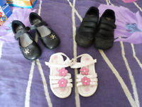 4 variety of different children's shoes clark shoes
