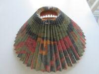 Multi coloured pleated lamp shade