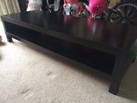 IKEA black brown coffee table/TV stand