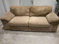 3 seater cord sofa good condition