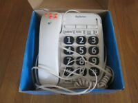 BT Big Button 200 Corded Phone with Phonebook and Speakerphone in White + EXTENSION LINE