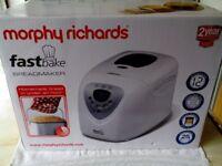 Morphy Richards Fastbake Breadmaker Unopened BNIB Model No 48280