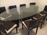 Table with 8 chairs plus TV Stand