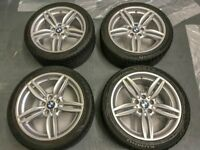 """Genuine BMW F10 19"""" 351 Staggered Alloys (professionally refurbed) and 6-7mm Tyres with TPMS"""