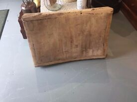 Solid old butcher's block
