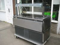 Catering hot and cold commercial food server /hostess trolley counter Moffet.