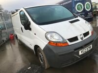 Renault trafic diesel spare parts available engine gearbox bumper bonnet wing light radiator