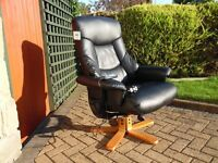 Shiatsu faux leather massage chair - programs for neck, back, hips, thighs etc.