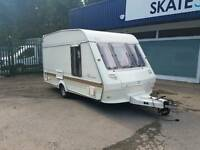 Ace airstream 2 berth Touring caravan l shaped lounge end kitchen cassette toilet 1994
